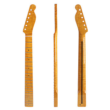 21 Frets Tiger Flame Maple Wood Guitar Neck For TL ST Electric Guitar Replacement Parts