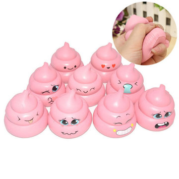 7cm Cute Squishy Poo Pink Cartoon Slow Rising Scented Fun Doll Mobile Phone Accessories Toy