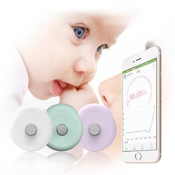 LoskiiDS01เทอร์โมมิเตอร์เด็กอ่อนฉลาดอุณหภูมิเซนเซอร์ไข้หน้าจอ บลูทูธ 4.0 Smart Baby หน้าจอ