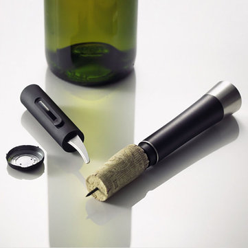 KCASA KC-PO020 Red Wine Bottle Air Pressure Opener Cork Popper Pump Corkscrew Cork Foil Cutter