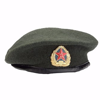 Mens Wool Beret Beanie Cap Women Vintage Military Soldier Army Hat