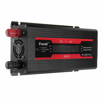2000W Peak Modified Sine Wave Power Inverter LCD Display Dual USB Power Inverter