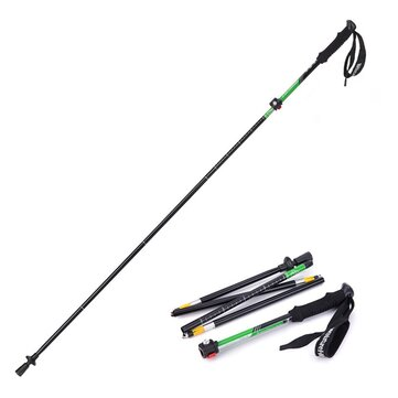 1PCS Naturehike NH15A023-Z Outdoor Folding Alpenstock Trekking Pole Folding Walking Climbing Sticks