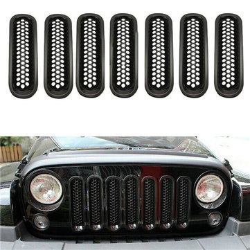 1 set Mesh Grille Insert Kit without Lock Hole for Jeep Wrangler 07-16 JK