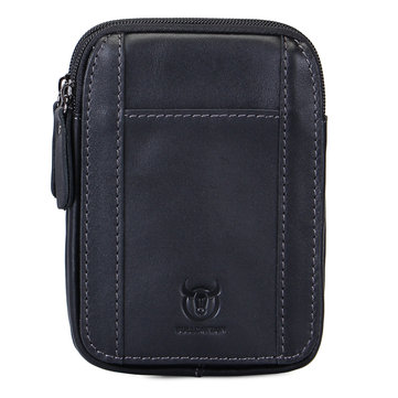 Bullcaptain® Genuine Leather Waist Pouch Minimalist Phone Bag Hanging Wallet Coin Purse Bum Bag
