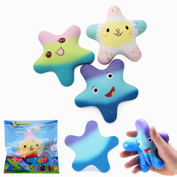 Vlampo Squishy Starfish 14cm Sweet Licensed Slow Rising Original Packaging Collection Gift Decor Toy