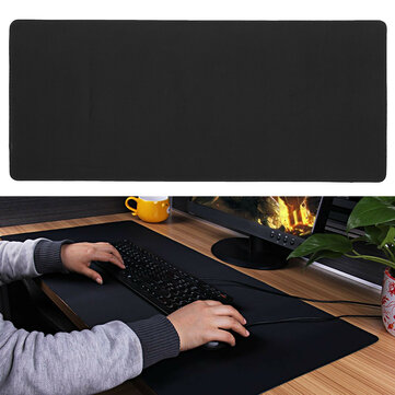 Large Black Anti-slip Gaming Mouse Pad Laptop Computer PC Mice Keyboard Mat