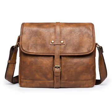 Men Minimalist Retro Casual Messenger Bag Shoulder Crossbody