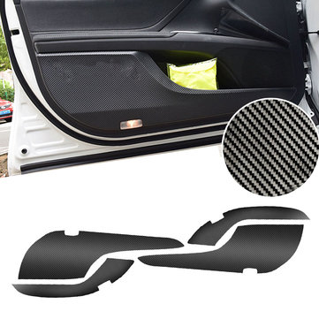 4PCS Carbon Fiber Car Inner Door Anti Kick Sticker Protective Trim Film Pad for Toyota Camry 2018