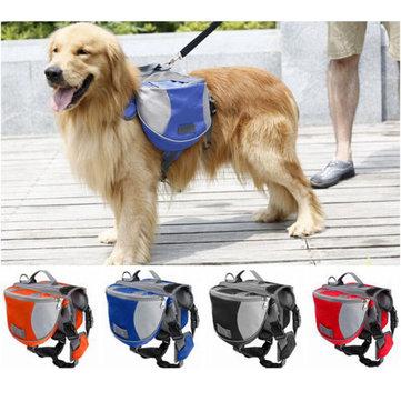 Pet Pack Dog Saddle Bag Backpack Carrier Outdoor Travel Hiking Camping Harness Backpack
