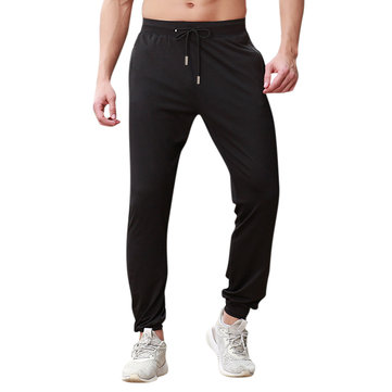 Men's Reflective Strips Thin Closed Foot Sports Trousers