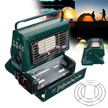 2 in 1 Portable Butane Gas Heater Outdoor Camping Hiking Survival Warm Heating Furnace