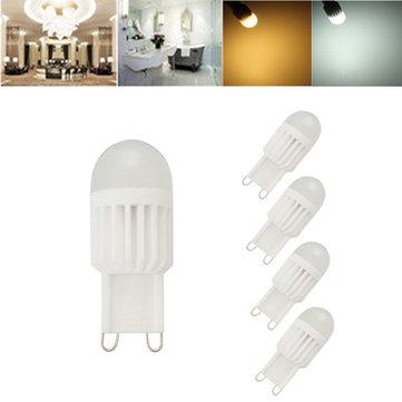 1X 5X ZX G9 3W 110V/220V 5050 360 Degree LED Crystal Ceramic Dimmable Bulb LED Lighting Lamp