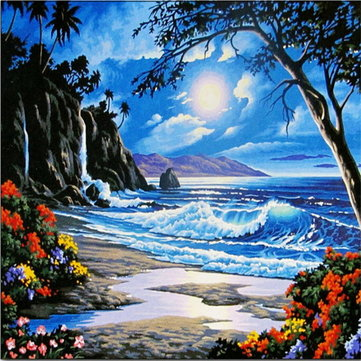 Beautiful Seaside Oil Paintings Creative painting by numbers Home Decoration