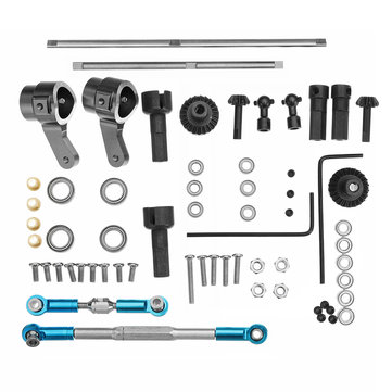 WPL Truck Update Metal Gear Bridge Axle Full Set For B1 B24 B16 C24 1/16 4WD 6WD RC Car Parts