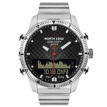 NORTH EDGE Digital 50M Dive Watches Men Altimeter Compass LED Sport Smart Watch