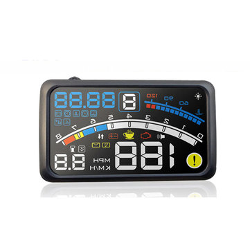 iMars™ 5.5 Inch Car OBD2 II EUOBD Display Overspeed Warning System Projector Wind Shield Auto Electronic Voltage Alarm