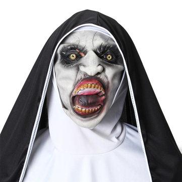 Horror The Nun Valak Mask Cosplay Halloween Mask Scary Creepy Face Mask Costume