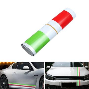1.2m итальянский стиль полосы флага стикеры автомобиля автомобиля капот бампер виниловые наклейки