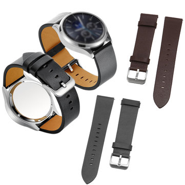 22mm Cowhide Genuine Leather Watch ReplacemenT-strap Wrist Band Watch Band for Samsung Gear S3