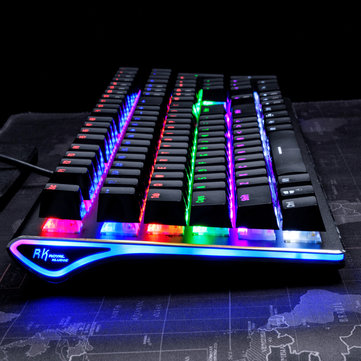 Royal Kludge RK Side 108 108 Keys RGB USB Wired Mechanical Gaming Keyboard Brown Switch AKRO