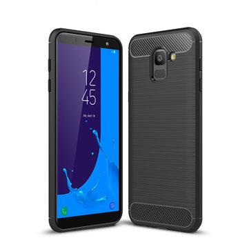 BakeeyРассеяниетеплаизуглеродноговолокна Soft TPU Защитный Чехол для Samsung Galaxy J6 2018 EU Version