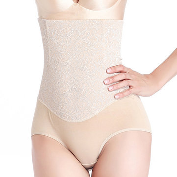 High Waist Lace Jacquard Seamless Breathable Shapewear