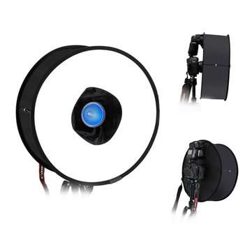 PULUZ PU5145 45cm Ring Softbox Speedlight Round Style Flash Light Foldable Soft Flash Light Diffuser
