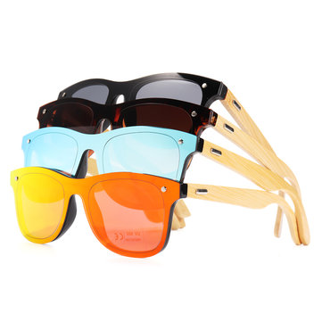 AZB Handmade Unisex Sunglasses Bamboo Wood Driving Fishing Temple Square Glasses