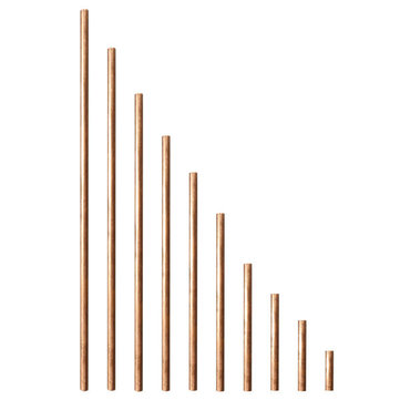 10mm Diameter 50-600mm Copper Round Bar Rod