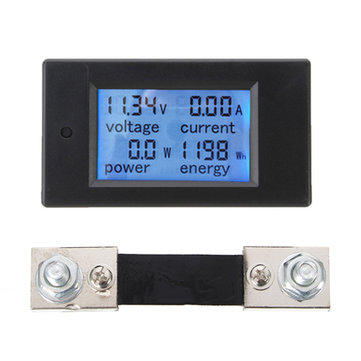 100A DC Multifunction Digital Power Meter Energy Monitor Module Voltmeter Ammeter With External 50A / 100A Shunt