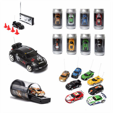 Mini Coke Can Remote Radio Control Micro Racing RC Car