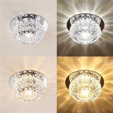 3W 5Wモダンな円形の形暖かい白い純粋な白いクリスタルLED天井の光シャンデリアのダウンライト