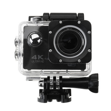 4K 2.0 Inch LCD WiFi Ultra HD Waterproof Action Sport Camera Black