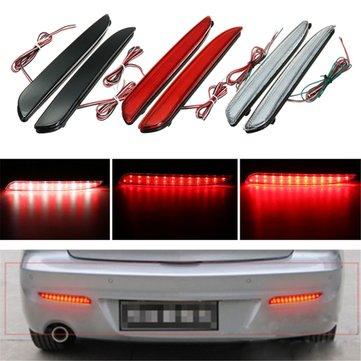 2pcs LED 후면 범퍼 회전 신호등 브레이크 테일 중지 마쓰다 3 2010-2013에 대 한 램프를 실행