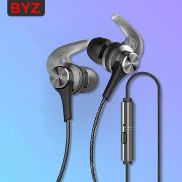 BYZ K68 3.5mm Universal In-ear Heavy Bass Sport Metal Earphone for Samsung Huawei Xiaomi iPhone