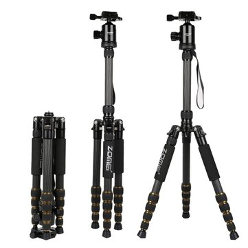 ZOMEI Z699C Portable Travel Professional Carbon Fiber Tripod Monopod for SLR DSLR Camera
