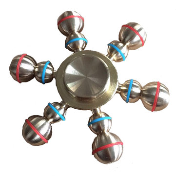 MATEMINCO Hexagonal Gourd Metal Hand Spinner Outdoor Games Toy