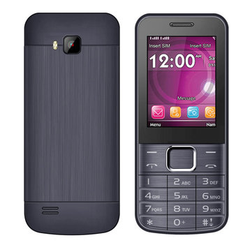 SERVO 225 2.4 Inch 1100mAh bluetooth Whatsapp Fackbook FM MP3 Metal Body Dual SIM Card Feature Phone