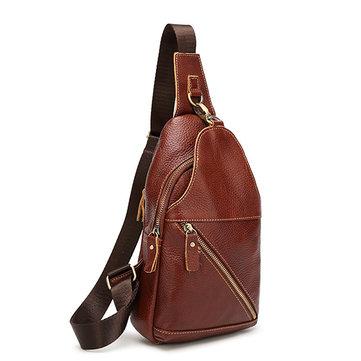 Originele Leather Retro Classic Crossbody Bag Borstzak Casual Schoudertas Reiszak