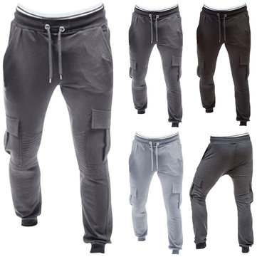 Men Gym Sport Running Baggy Pant Jogging Slim Fit M-3XL Casual Cargo Trousers