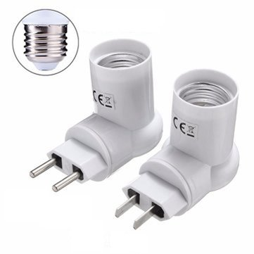 E27 Base Socket Adapter Converter PIR Motion Sensor Holder For LED Light Lamp Bulb AC110-240V