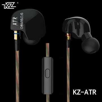 KZ-ATR Dynamic In-Ear Bass Stereo HiFi Earbud Sport Earphone With Mic For iPhone Samsung HUAWEI