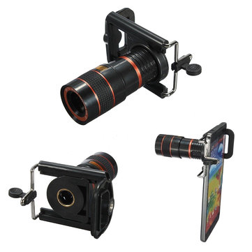 8X Zoom Optical Lens Telescope+Universal Holder for Camera Mobile Cell Phone
