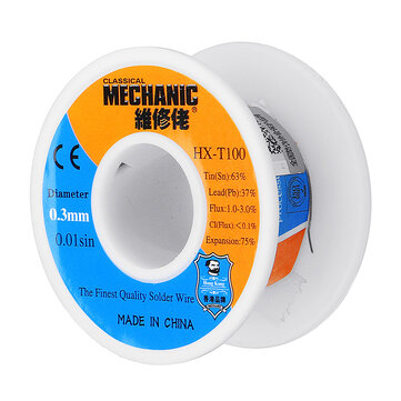MECHANIC 0.3mm 0.4mm 0.5mm 0.6mm 0.8mm 50g Low Melting Point Solder Wire 63Sn 37Pb Soldering Tin BGA Welding Tool