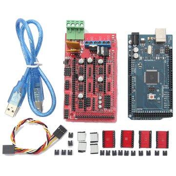 RAMPS 1.4 + Mega2560 R3+ A4988 Optical Endstop 3D Printer Mainboard