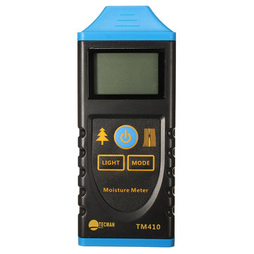 TM410 Professional Digital LCD Backlight Display Wood Moisture Meter Hygrometer Test Probe Humidity Tester