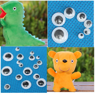 700pcs Mixed Wiggly Googly Eyes Self-adhesive DIY Scrapbooking Doll Stuffed Toy Accessories