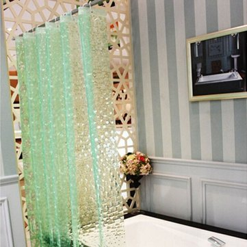 180X180cm PEVA Waterproof Water Cube Pattern Thicker Bath Shower Curtain