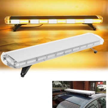 47inch Yellow & White 88 LED Emergency Flash Warning Light Bar Strobe Light For Car Truck Vehicle